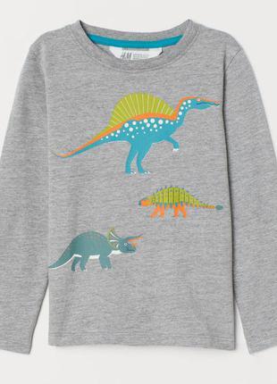 H&m кофточка с динозаврами на мальчика на 1,5-2 года