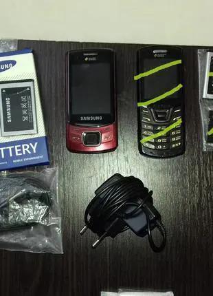 Мобильный телефон Самсунг Duos вишневый (новая батарея)