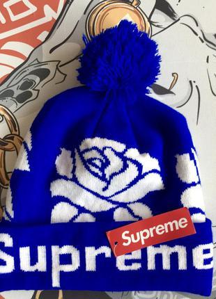 Шапка supreme роза