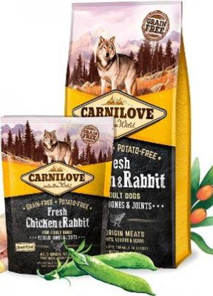 Сухой корм Carnilove (Карнилав) Dog Adult курица/кролик