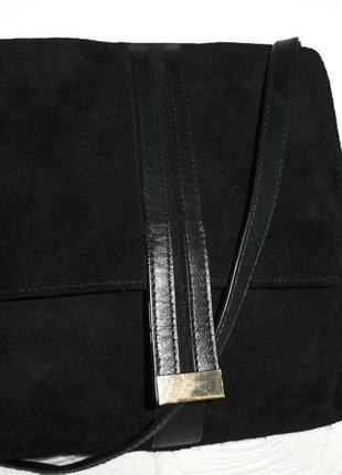 Стильная сумка натуральная замшевая кожа meddison