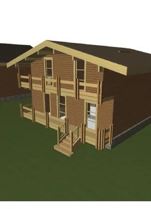 Деревянные дома для базы отдыха.