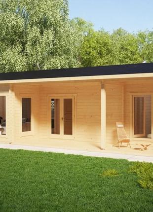 Дом деревянный из профилированного бруса 6х11.