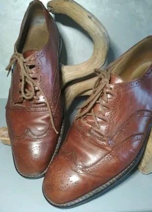 Кожаные туфли оксфорды Yanko
