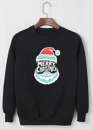 Теплый мужской свитшот ⛄️ новогодний свитер