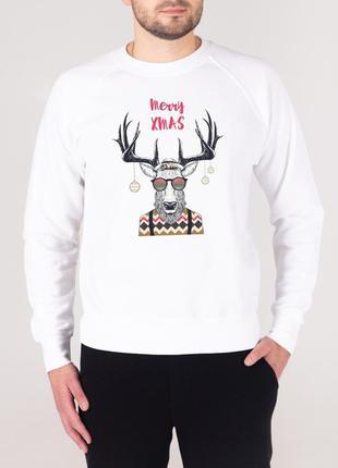 Теплый мужской свитшот ⛄️ свитер с оленем