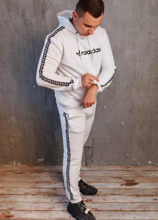 Теплый мужской спортивный костюм ⛄️  спортивный костюм с лампасом