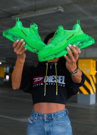Женски кроссовки balenciaga neon green