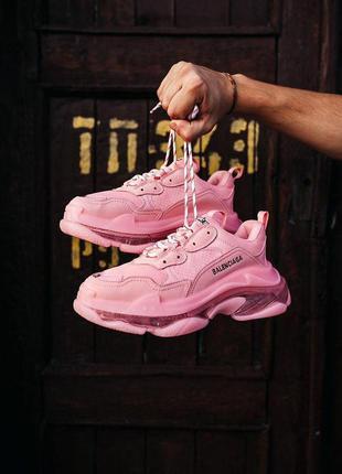 Женски кроссовки balenciaga pink