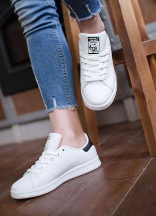 Женские кроссовки adidas stan smith black