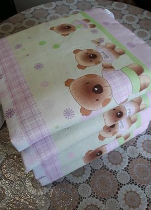 Бортики двусторонние в детскую кроватку