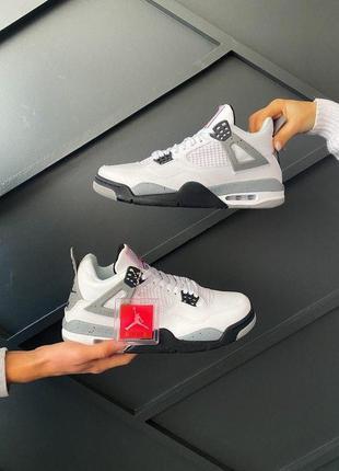 Кроссовки мужские nk air jordan 4 'white cement
