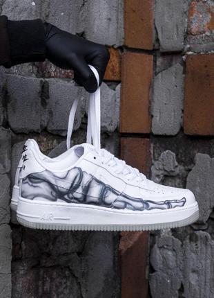 Nike air force skeleton white