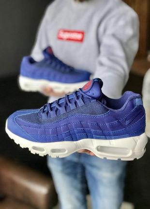 Мужские кроссовки nike 95 blue