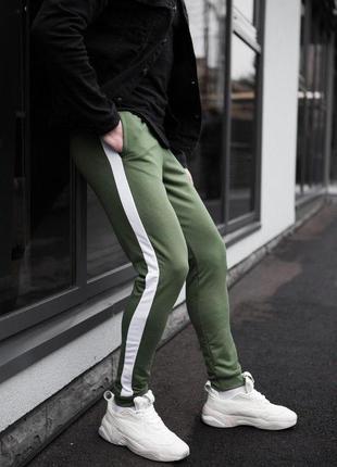 Мужские спортивные штаны цвета хаки