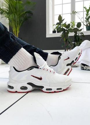 "Кроссовки nike air max tn + ""white/red"""