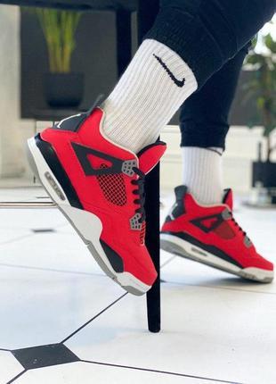 Кроссовки nike air jordan 4 retro 'red/black/white