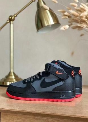 Nike air force 1 high  grey/black