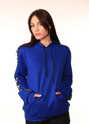Женское худи kappa синего цвета
