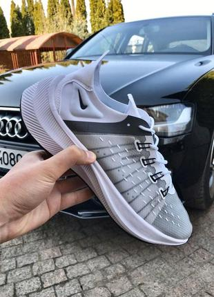 Стильные и легкие кроссовки nike zoom white grey