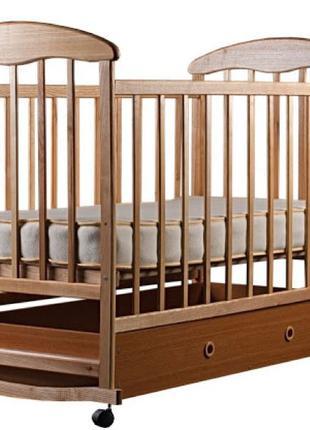 """Детская кроватка """"Наталка""""  (с маятником и ящиком)+ матрас"""