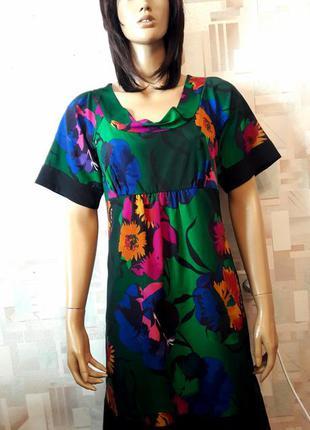 Яркое цветочное платье миди с завышенной талией от monsoon