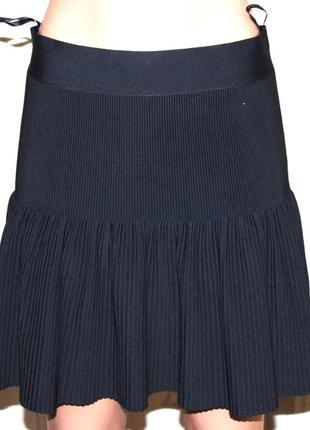 Ультра модная бандажная юбка гофре солнце-клёш от бренда bcbg ...