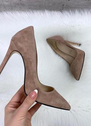 ❤ женские бежевые замшевые туфли ❤
