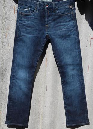 Качественные мужские джинсы replay blue jeans mfg.co