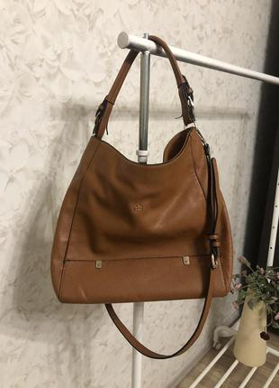 Большая коричневая сумка roccobarocco!