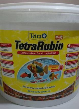 Корм для аквариумных рыб TetraRubin для усиления окраса рыб
