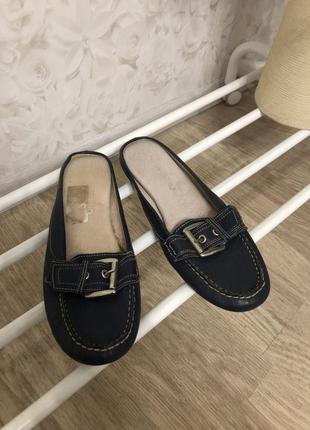 Кожаные туфли мюли artigiano, новые!