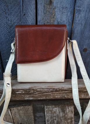 Винтажная сумка кроссбоди alex valentino