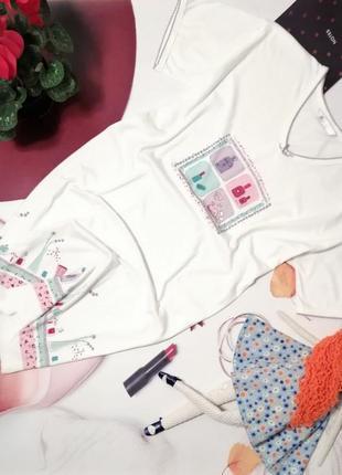 Ночная сорочка love to lounge, 100% хлопок, размер m/l