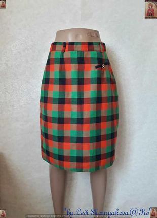Новая юбка-миди карандаш в яркую клетку в составе 35 % вискоза...
