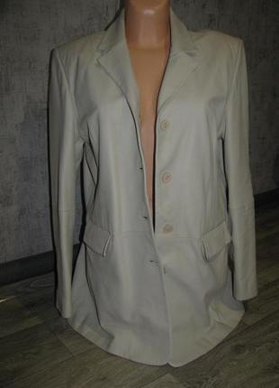 Пиджак жакет куртка женская 48-50 размер как кожа италия
