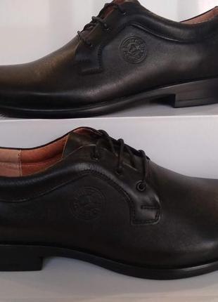 Туфли натуральная кожа классика мужские модельные на шнурках b...