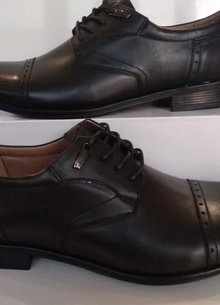 Туфли натуральная кожа классика мужские модельные на шнурках c...