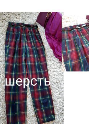 Мега стильные шерстяные брюки в клетку/шотландку,padona by hir...
