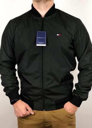 Бомбер весенний мужской  / куртка мужская весенняя черная