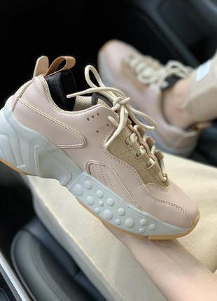 Распродажа🔥acne studios beige потрясающие женские кроссовки (в...