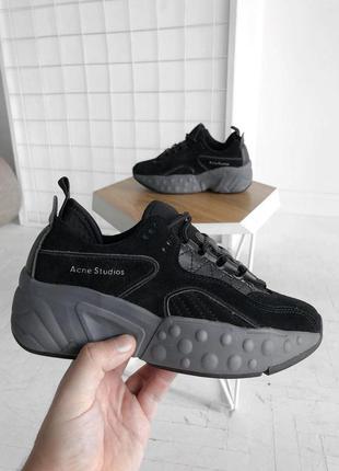 Распродажа🔥acne studios black потрясающие женские кроссовки (в...