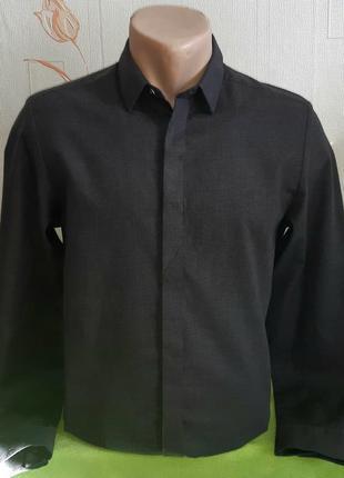 # розвантажуюсь стильная темно-серая рубашка cos приталенного ...