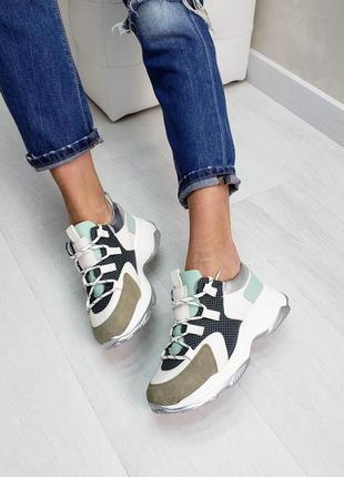 Кроссовки белые серые мятные кеды білі жіночі кросівки