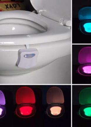 LED подсветка для унитаза с датчиком движения и света