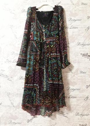 Свободное платье в стиле бохо