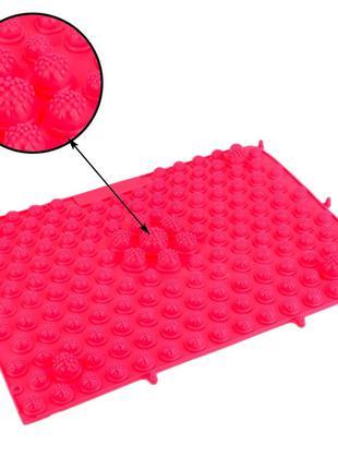 Акупунктурный коврик массажный для рефлексотерапии иглоукалывани