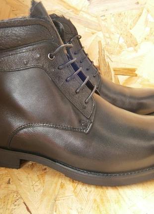 Ботинки мужские классика шнурки кожа