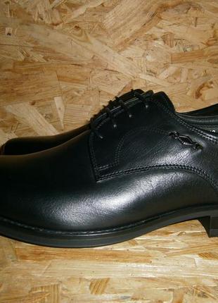 Туфли мужские классика повседневные кожаные на шнуровке