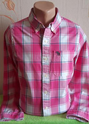 # розвантажуюсь роскошная рубашка в клетку abercrombie & fitch...